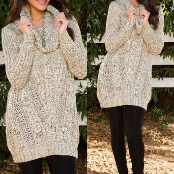 Begin Again Oversized Sweater