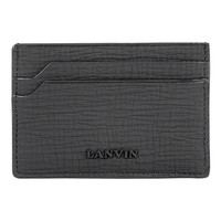 Black Matte Leather Wallet by Lanvin