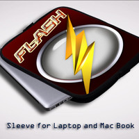 The Flash Logo Movie iPad 2 3 4 Sleeve for Laptop, Macbook Pro, Macbook Air (Twin Sides)