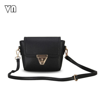 VN Brands 2016 New Women Messenge Bags Fashion Female Leather Shoulder Bag Crossbody Bag Ladies Handbags Small Clutch Purse Mini
