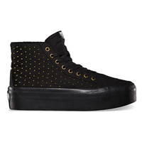Vans Studded Sk8 Hi Platform Womens Shoes Black/True White  In Sizes