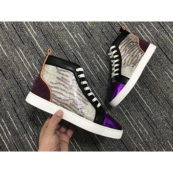 Christian Louboutin Cl Louis Orlato Multi Color Sneakers Reference 119