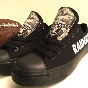 Oakland Raiders Marilyn Monroe Athletic Shoes