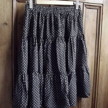 xs skirt vintage shirts womens clothing ladies skirts teen skater skirt mini skirts summer black floral british clothes Dolly Topsy Etsy UK