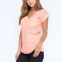 Fox Miss Clean Womens Pocket Tee Cream  In Sizes