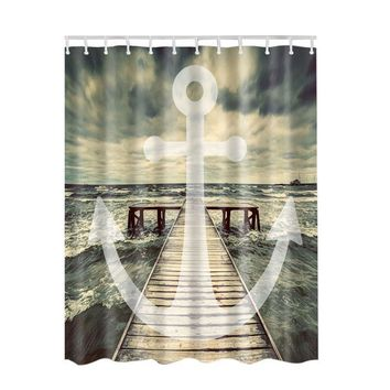 Bathroom Curtain Waterproof Accessories Classic Anchor The Shower Curtain
