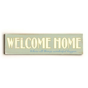 Personalized Welcome Home Wood Sign