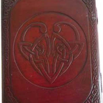 Celtic Heart Leather Covered Journal with Latch