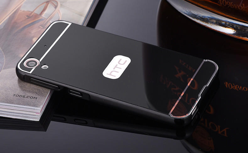 new concept f7fa2 6390d For HTC Desire 626 626W 626D 626G Case New Luxury slim Metal Aluminum Alloy  Frame Mirror Back Cover phone Cover For HTC 626