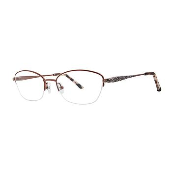 Dana Buchman - Dusty 53mm Brown Eyeglasses / Demo Lenses
