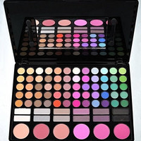 ShineMore Professional 78 Colors Cosmetic Makeup Palette,78 Piece Make Up Combo, 60 Eyeshadow Colors, 3 Contour, 12 Lip Gloss, 3 Highlighting & Blusher Shades(P78#2)