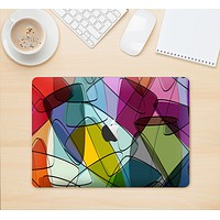 "The Colorful Overlapping Translucent Shapes Skin Kit for the 12"" Apple MacBook"