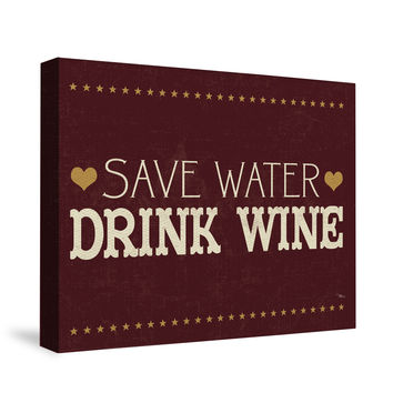 Wine Lovers V Canvas Wall Art