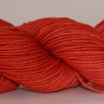 DK Sparkle (silver)- 100 grams - Hand Dyed Yarn- Paprika Semi Solid