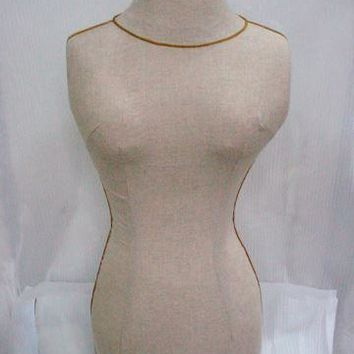Vintage Burlap Dress Form