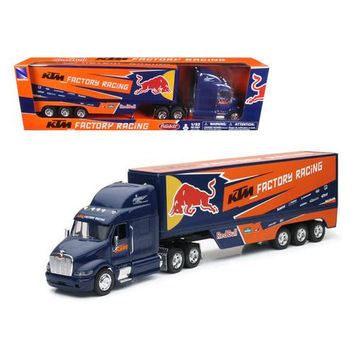 """Peterbilt KTM Factory Racing Team Truck """"Red Bull"""" 1/32 Model by New Ray"""