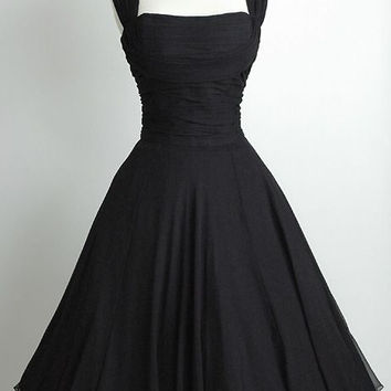 Black Homecoming Dress Bridesmaid Dress