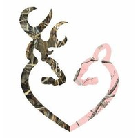 "Amazon.com: Camo Heart -r Deer Pink vinyl car bumper sticker 6"": Everything Else"