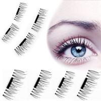 4 Pcs/Pairs Magnetic Eyelashes Extension Eye Beauty Makeup Accessories Soft Hair Magnetic Eyelashes Dropship False Eyelashes