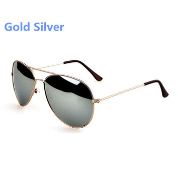 30X HK Free Shipping Hot Unisex Retro Vintage Womens Mens Mirrored Aviator Lens Sunglasses Christmas Bans Holiday Sun Glasses
