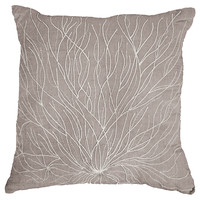 Tenticle Vine 21x21 Pillow, Taupe, Decorative Pillows