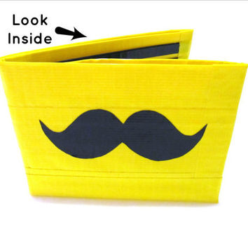 Mustache Duct Tape Wallet by TimmNicole on Etsy