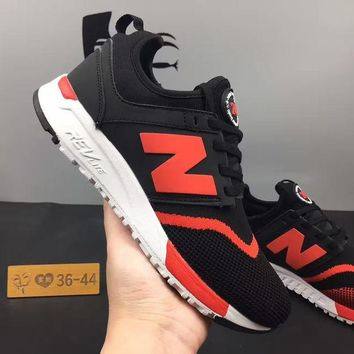 ONETOW cxon new balance nb247 mesh shoes black red for women men running sport casual shoes sneakers