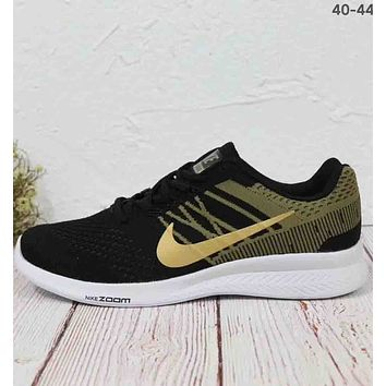 NIKE AIR ZOOM RELENTLESS 5 woven flying line comfortable sneakers F-MLDWX Black/gold