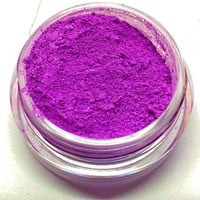 "Bright Purple Shimmer Eye Shadow - Neon Purple - ""Grape Popsicle"" - Mineral Makeup - Eyeshadow"