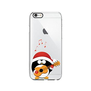 Cute Penguins Merry Christmas Transparent Silicone Plastic Phone Case for iphone 7 _ LOKIshop (iphone 7)