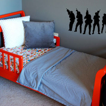 Army Military Boy Room Wall Art Sticker Decal nm038