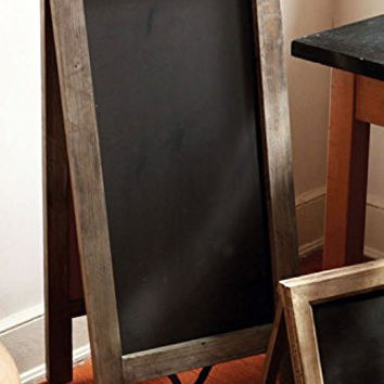 Vintage Extra Large Free Standing Wood Frame Two-Sided Chalkboard