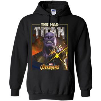 Marvel Infinity War Thanos Mad Titan Bling Graphic  Pullover Hoodie 8 oz