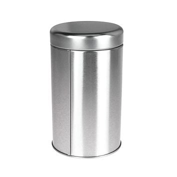 Tea Tin Canister Storage Container, Silver, 5-Inch