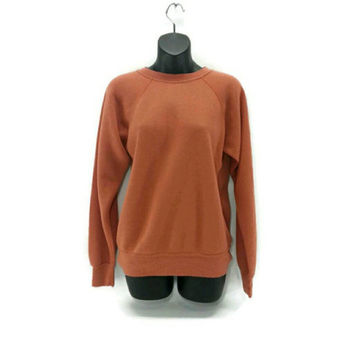 Vintage Orange Sweatshirt, Threadbare, Worn, Cozy, Soft, Thin, Men's, Women's, Unisex, 60's Clothing, Halloween, Mad Men,Fall Fashion
