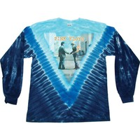 Pink Floyd Men's  Wish You Were Here Tie Dye  Long Sleeve Multi