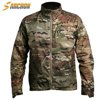 Military Style Waterproof Windbreaker Summer Sun Protect Ultra-light Skin Jacket Men Tactical Clothes Army Camouflage Jacket