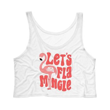 Let's Flamingle Tank Top Crop
