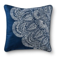 Mudhut™ Dhurrie Henna Decorative Pillow - Blue : Target