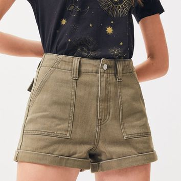 General Green Utility Denim Mom Shorts | PacSun