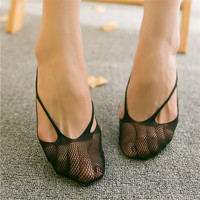 New Fashion Boat Invisible Footsies Low Cut No Show Ballerina Socks Slippers Summer Spring Black Pink 1Pair