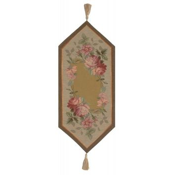French Floral Roses Small French Table Runner