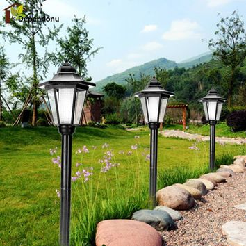 European Style Solar Power LED Lawn Lamps Outdoor Waterproof Light Path Way Landscape Garden Fence Lamp