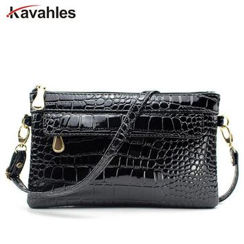 Famous Brands Fashion Women Clutches Casual Female Clutch Bags Alligator Women Messenger Bags Cross Body Shoulder Bags PP-1190