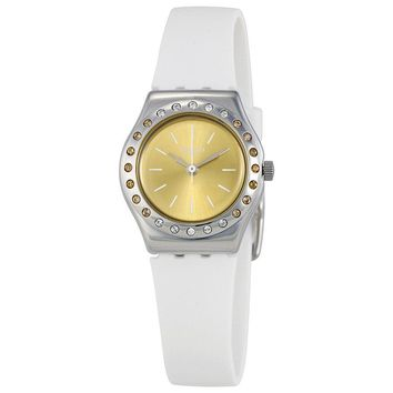 Swatch Camawhite Champagne Dial Ladies Watch YSS314