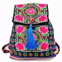 Tribal Vintage Hmong Thai Indian Ethnic Boho hippie ethnic bag, rucksack backpack bag SYS-174