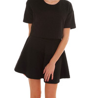 Better Together Two Piece Dress Set - Black