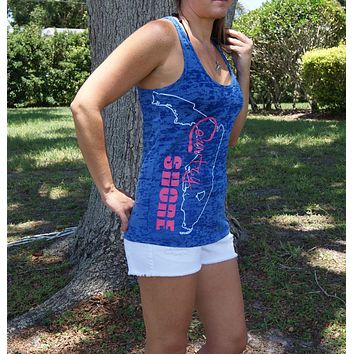 Burnout Blue State of Florida Tank Top