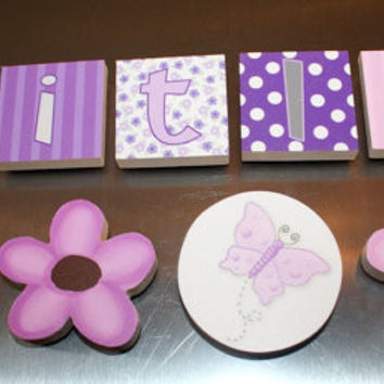 Lilac Fairy Pixie Flowers Girls Name Magnets Fridge Bedroom Magnets NM0005