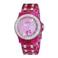 Armitron Women's 3500023 Barbie Crystal Accented Pink Plastic Bracelet Watch